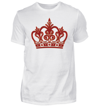 Royal Ornaments Crown - Gold Red