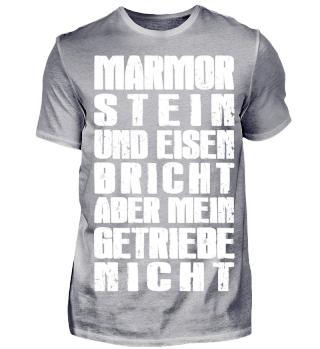 Marmor Stein Eisen aber Getriebe nicht