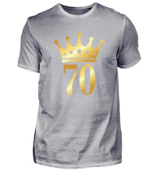 70. Geburtstag Krone (Vintage Goldgelb)