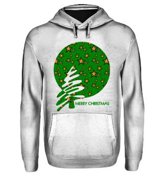 Merry Christmas - stylish stars green