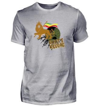 Reggae Roots Shirt - Lion Roots Geschenk - Reggae Löwe