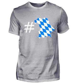 Hashtag Bayern Bundesland Motiv