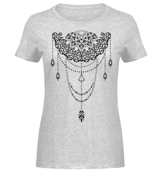 Dotwork Tattoo Mandala 1 - black