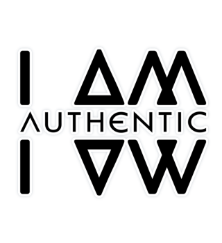 Authentic I Am Wht Sticker