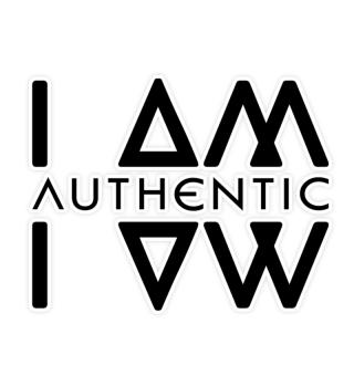 Authentic I Am Wht Sticker