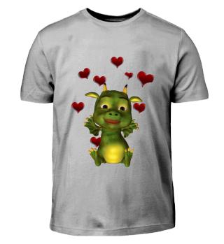 Herziger Drache (Kinder T-Shirt)