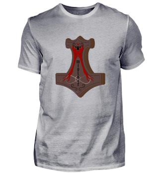 metal thor hammer viking shirt odin