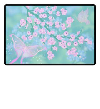 ♥ Cherry Blossom Branch Butterflies 3