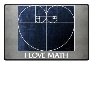 Fibonacci Spiral Heart - I LOVE MATH 2