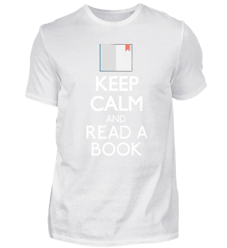 Keep Calm and read a book - Bücher Shirt