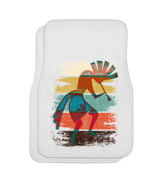 Kokopelli On Stripes Grunge Style Ic