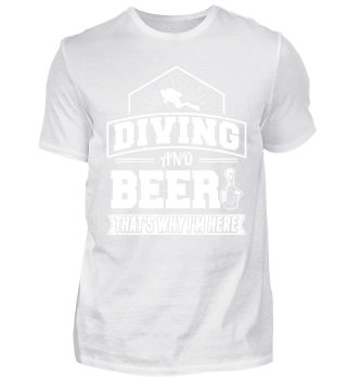 Funny Diving Diver Dive Shirt And Beer