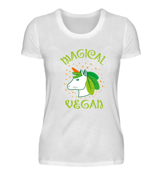 Magical Vegan Unicorn Green Vegetables