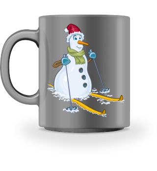 Ski Schneemann - Geschenk Urlaub
