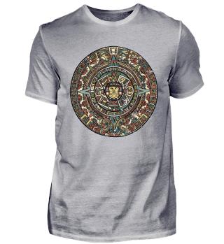 Azteken Mandala Glaube Gott Kunst