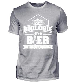 Biologie Biologen Shirt Und Bier