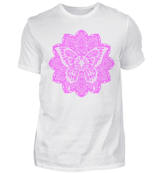 ♥ Vintage Mandala I Butterfly I pink
