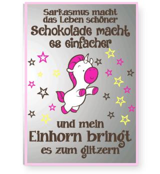 **Einhorn Schokolade Poster**