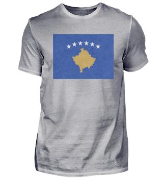 Kosovo Flagge Design Motiv Geschenkidee