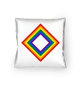 Rainbow Flag Frame Square Emblem