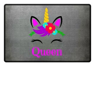 Queen Einhorn Königin Fußmatte Geschenk