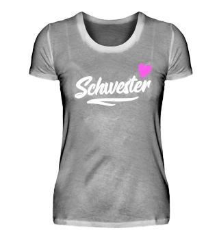 Schwester Geschenk T-Shirt