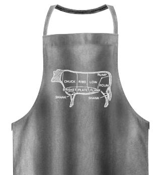 Kochschürze Rind Grillschürze