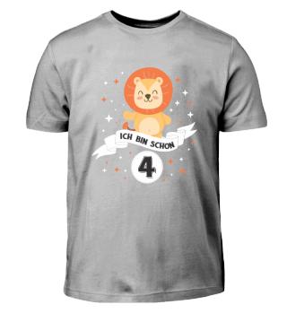 Geburtstag Shirt f. Kinder 4 Jahre Junge