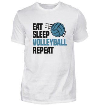 Eat Sleep Volleyball Repeat Team Spruch