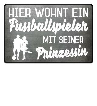 FUSSBALLSPIELER PRINZESSIN - FUSSMATTE