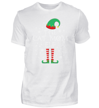 Cat Mom Elf Matching Family Group