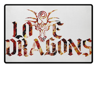 Love Dragons - colored grunge Fußmatte