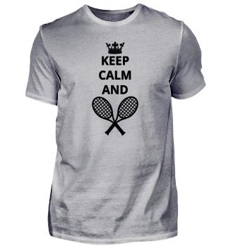 geschenk keep calm and TENNIS