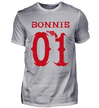 01 King Queen Bonnie Clyde Paar Shirt