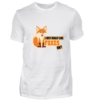 I love foxes funny gift idea