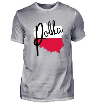 Polen Poland Polska Landkarte Flagge