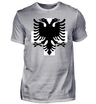Albanien&Schweiz Flagge! Schweizer-Nati