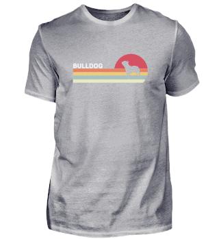 Bulldog Shirt. Retro Style