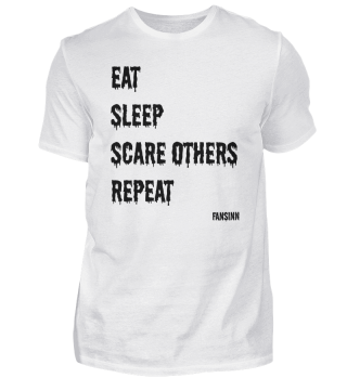 eat sleep scare shock funny fun gift