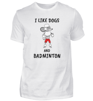 Badminton Sporthund saying gift