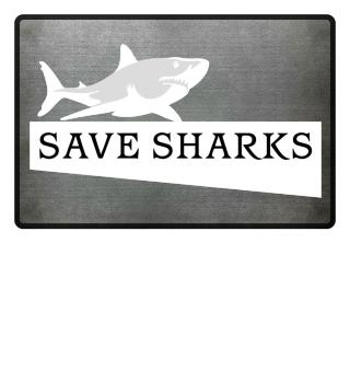 SAVE SHARKS - weisser Hai
