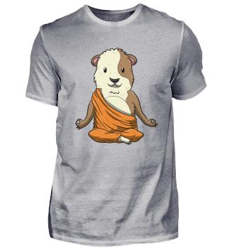 Budda Guinea Pig Funny Cavy Meditation Y