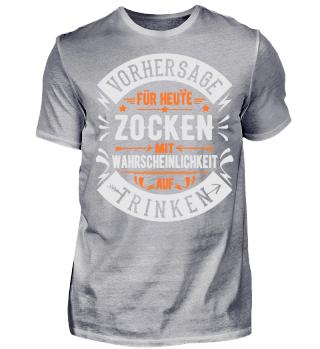 ZOCKEN TRINKEN T-SHIRT GAMER