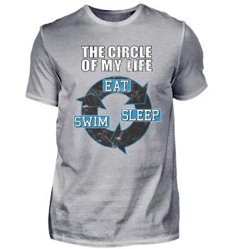 Eat, Sleep, Swim - Motivational T-Shirt