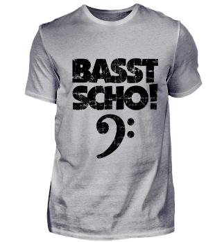 Basst Scho! Bass Design Vintage Schwarz