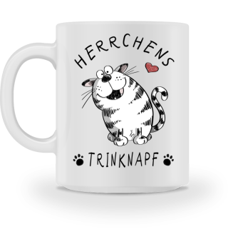 Herrchens Trinknapf Katze Tasse