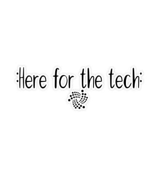 Here for the tech IOTA logo sticker