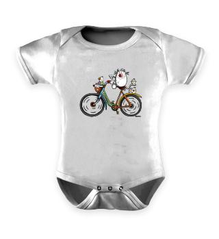 Katze fährt Fahrrad - Bike - Comic - Fun
