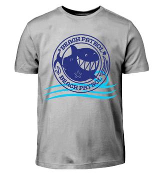 Beach Patrol Shark Vacation T-Shirt Gift
