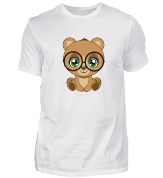 Shirt Bear Glasses Bär Brille cute süß